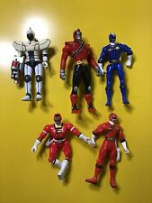 Vintage 1997,2001,2010  Bandai Power Rangers Action Figurine Set Lot Of 5