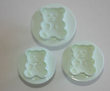 Teddy Bear Plungers Embossing Set of 3 Sugarcraft Cake Decorating Fondant Baking