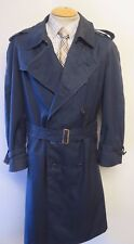 "Genuine Burberry Blue Mac Trench Coat Raincoat Size 42"" Euro 52 S"