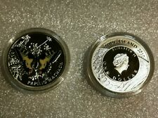 Niue 1 dollar Butterfly Papilio Machaon silver color coin 2011