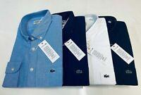 Lacoste Men's Cotton Oxford Shirt Long Sleeve Regular Fit 4 colours All Size