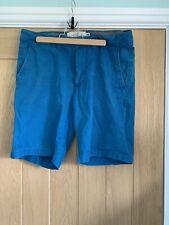Men's  H&M shorts size 31 M Medium Blue Summer Zip Button