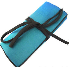 TEAL & BLACK LUXURY JEWELLERY ROLL IN  SOFT PADDED SATIN FROM SEEK UNIQUE