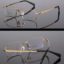 Custom Prescription Titanium Frame Eye Glasses Adaptive Lenses Brown Sunglasses