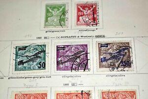 Tschechoslowakei 1918 bis ca. 1930: GUTE Altsammlung auf Schaubek-Vordrucken