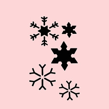 SNOWFLAKES STENCIL STENCILS 5 SIZES CRAFT FLEXIBLE CHRISTMAS PAINT TEMPLATE NEW