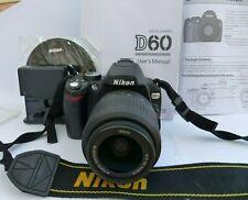 Nikon D60 Digital DSLR Camera 18-55 VR Kit Shutter count only 412 yes 412.