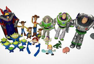 Lot of 20 Disney Pixar Toy Story Action Figures Buzz Lightyear Zurg Woody Rex