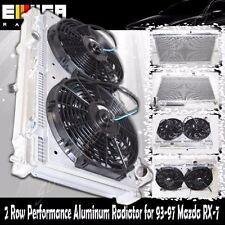 "RADIATOR+12"" Fan+Shroud for 1993-1997 Mazda RX-7 FD3S Manual Transmission ONLY"