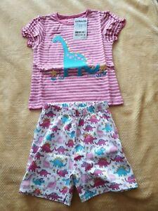Brand new Girls Jojo Maman Bebe Dinosaur Pyjamas 2-3 Years