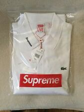 SUPREME LACOSTE WHITE LONG SLEEVES JERSEY NWT SIZE US XL FR 6