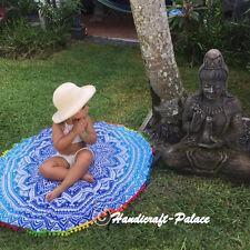 Indian Round Mandala Cotton Beach Throw Hippie Yoga Mat Roundie Tapestry Blanket