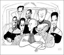 AL HIRSCHFELD Hand-Signed Ltd Ed: STAR TREK DEEP SPACE NINE; COA by MARGO FEIDEN