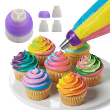 3-Color Icing Piping Bag Russian Nozzle Converter Coupler Cake Decorating Tool
