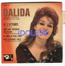 Disques vinyles pour chanson française Dalida EP