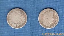 1/2 Franc Louis-Philippe Ier 1845 B Rouen B / TB
