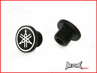 Alloy Mirror M10 Block Off Plugs with Logo - Yamaha MT-01 SP MT-03 MT-07 MT-09