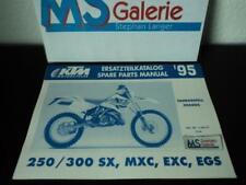 KTM 250 300 SX MXC EXC Ersatzteilkatalog part list Fahrgestell Chassis 1995 HA5