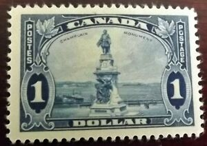CANADA KG V 1935 1$ BRIGHT BLUE MINT HINGED P.12 S.G.351 VERY GOOD CONDITION