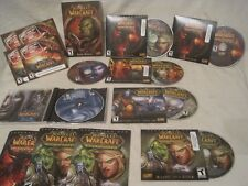 World of WarCraft Game and Expansion set DVD Rom disc lot Crusade Cataclysm  +