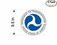 US Department Of Transportation Seal USA 2 Stickers 9.5 Inch Sticker Decal