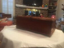 UNIQUE TABLE TOP MAHOGANY CURED MEAT/PIE SAFE