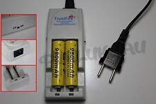2 PILES ACCUS RECHARGEABLE 18650 3.7V 9800mAh + CHARGEUR TR-001 TRUSTFIRE