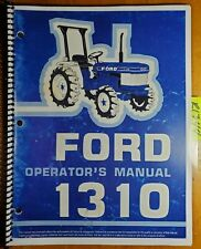 Ford 1310 Tractor Owners Operators Manual Se4066 300810630