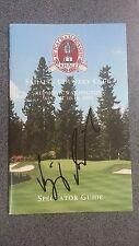 1998 PGA Champion Vijay Singh Signed Spectators Guide