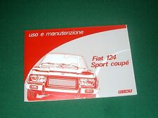 Uso e manutenzione Fiat 124 Sport Coupé 1972 - 1976 Owner's manual terza serie-