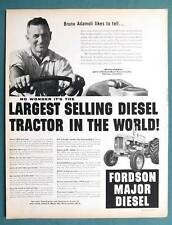 1958 Fordson Major Diesel Tractor Ad Photo Endorsed by Bruno Adamoli Torrence CA