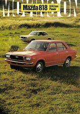 Mazda 818 1971-73 French Market Foldout Sales Brochure 1300 Berline & Coupe