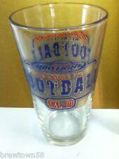 Budweiser beer glass drinking Anheuser-Busch Because It's Football bar pub  IC2