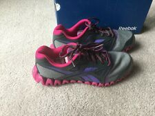 New Reebok Zignano FLY 2 GS Running Shoes Gray/ Pink Youth 5