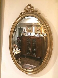 Italian  gold gilt Beveled Mirror