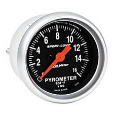 "Auto Meter Boost/Pyrometer Gauge 3344; Sport-Comp Kit 1600°F 2-1/16"" Electrical"