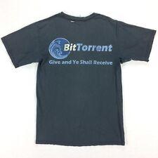 Distressed BitTorrent T Shirt Medium Give N Ye Shall Receive Cyberpunk Mr Robot