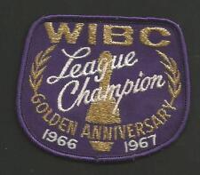 """WIBC LEAGUE CHAMPION GOLDEN ANNIVERSAY 1966-1967   VINTAGE PATCH 3 1/2 """""""
