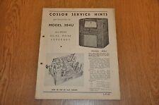 Cossor Modelo 584U radio receptor todos onda CD CA S.M.65 Genuino De colección Manual.