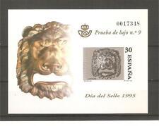 ESPAÑA SPAIN PRUEBA OFICIAL EDIFIL Nº 34 DÍA DEL SELLO AÑO 1995