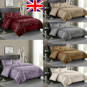 Duvet Cover Set Egyptian Cotton Quilt Covers Bedding Sets Double King Size UK