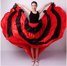 Flamenco Tango Big Ruffle Skirt Cosplay Spanish Gypsy Belly Dance Indian Costume