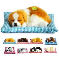 Lifelike Animated Breathing Stuffed Puppy Dog Plush Toy Child Gift Home Decor