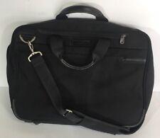 "Briggs And Riley Executive Briefcase Laptop Black Messager Bag 17"" Luggage"
