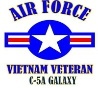 VIETNAM VETERAN C-5A GALAXY  AIR FORCE SHIRT