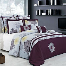 Super Soft Full /Queen Fifi 100% Cotton Embroidered Multi-Piece Duvet Cover Set