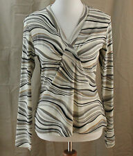 i.e., Medium, Multi-color Striped Knit Top