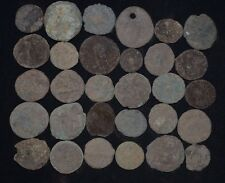 Collection of 30 Ancient Roman Bronze coins. Roman Imperial, 235-476 AD Detector