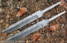 Handmade Damascus Steel Hunting Bowie Blank Blades Knives 14 INCHES  2 Pieces