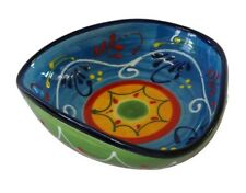 Triangular Tapas Bowl / Dish 18 x 5 cm  Spanish Handmade Ceramic Pottery